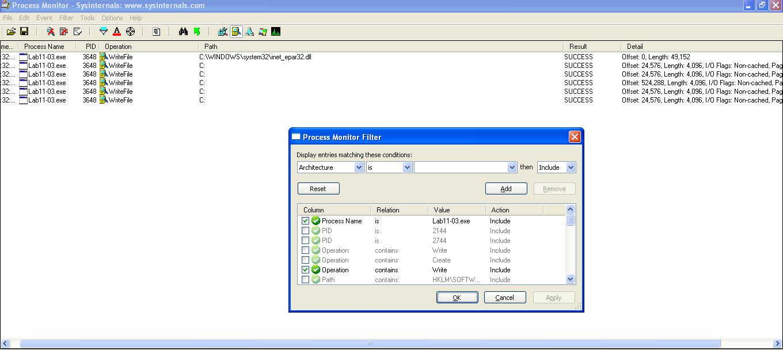 inet_epar32.dll being written by Lab executable